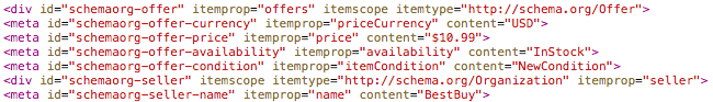 código fuente rich snippet