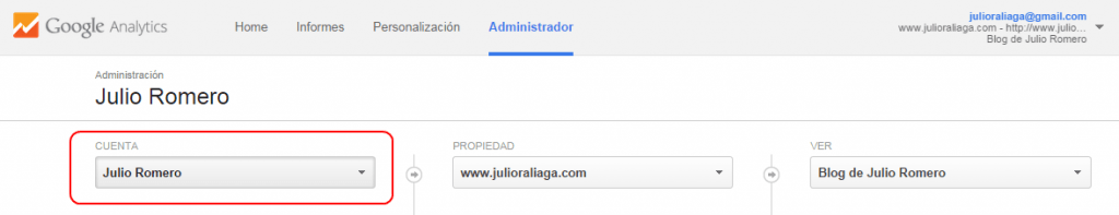 crear cuenta google analytics