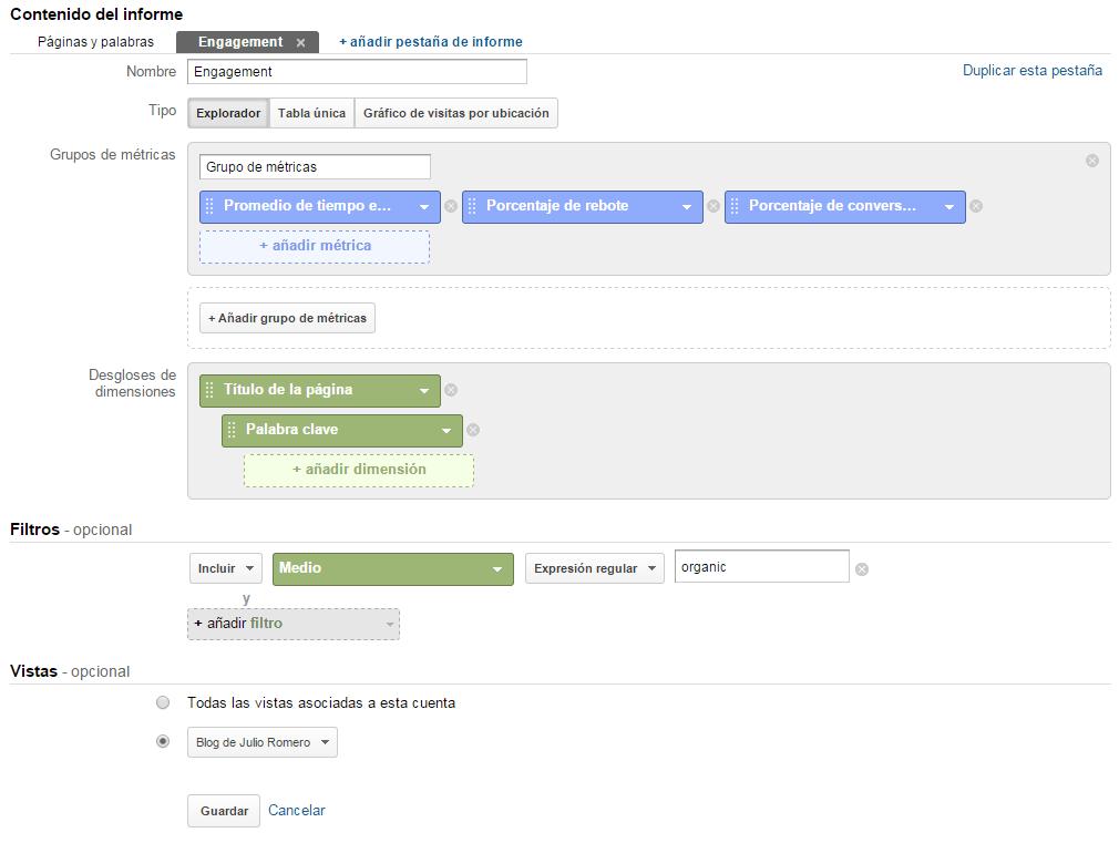 crear informe personalizado 2