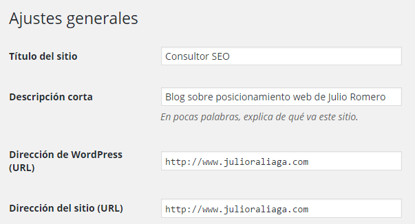 titulo sitio wordpress